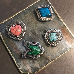 (3 for $15) Vintage southwest button covers